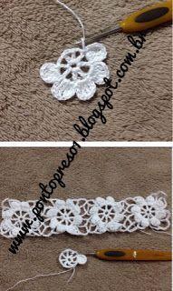 Uma PALINHA con pequeños cuadrados, compõe o modelito . Un detalle en Croche, faz toda diferencia! Crochet Stitches Free, Crochet Yoke, Crochet Diagram, Crochet Squares, Irish Crochet, Crochet Doilies, Diy Crafts Crochet, Crochet Projects, Crochet Flower Patterns