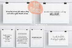 Ann.Meer by Anna-Maria Dahms: Freebie: 6 Typo-Printables