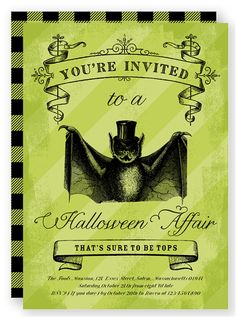 Halloween Party Invitation | Folded Words