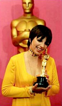"1972 LIZA MINNELLI winning the Oscar as best actress in a leading role for her performance in the movei ""Cabaret"" (Liza is the only Oscar-winning child of Oscar-winning parents)"