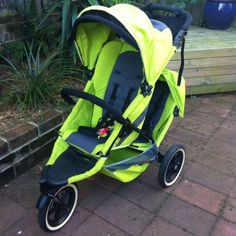 phil and teds EXPLORER double stroller green, includes rain cover and travel bag