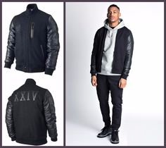 Michael B. Michael B Jordan, Black Bomber Jacket, Knitting Designs, Jordans, Celebs, Alpha Male, Sleeves, Jackets, Style