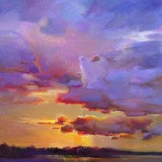 Sunset in oils