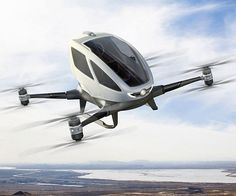 Autonomous transportation is the way of the future - but who says it has to be limited to the ground? With the EHang 184 AAVrideable autonomous drone you'll be able to travel faster and easier than ever before by taking to the skies in this self driving quadcopter taxi!