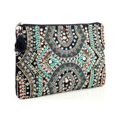 Designer Clothes, Shoes & Bags for Women Big Purses, Cute Purses, Purses And Bags, Diy Pochette, Crochet Purse Patterns, Embroidered Bag, Beaded Purses, Clutch Bag, Shopping