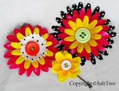 DIY Flower Clip (would be adorable for little girls). This reminds me of Mary Engelbreit.