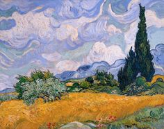 Wheat Field with Cypresses by Vincent van Gogh - Art Print - Museum Quality in Art, Prints | eBay