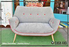 """Sillon gondola """"Jackie"""" grey.  Visitanos en Guatelama 5657. Buenos Aires, Argentina  o escribinos a info@casafad.com"""