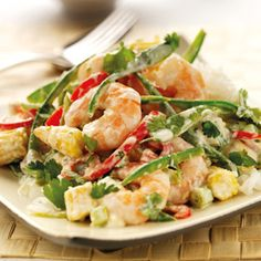 Thai Style Prawns with Quark Recipe by Graham's The Family Dairy Quark Recipes, Spicy Recipes, Fish Recipes, Seafood Recipes, Cooking Recipes, Healthy Recipes, Vegetarian Stir Fry, Vegetarian Recipes, Slimming World Recipes