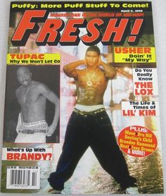 Fresh Hip Hop Music Magazine April 1998 Destiny's Child Aaliyah Usher Tupac Rare
