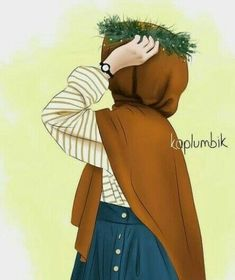 Hijabi Girl, Girl Hijab, Hijab Outfit, Muslim Girls, Muslim Women, Muslim Fashion, Hijab Fashion, Hijab Drawing, Hijab Style Tutorial