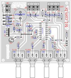 icu ~ Pin na elektronika ~ 15 lis preamplifier loudness bass treble layout Circuit Stereo Preamplifier With IC Tone Control Unit tda stereo pre amplifier Circuits Audio amplifier tda Amplifier Electronics Projects, Electronic Circuit Projects, Electronic Engineering, Diy Electronics, Hifi Amplifier, Audiophile, Power Supply Circuit, Speaker Box Design, Electronic Schematics