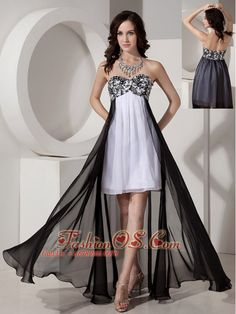 e0066015941a Buy black and white high low pageant dress with appliques and beading from  fancy pageant dresses collection, sweetheart neckline empire in white and  black ...