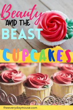 Beauty and the Beast birthday themed celebrations are so trendy these days. So, complete the theme by adding the Beauty and the Beast themed cupcakes to your menu. Here's an easy recipe to make a simple cupcake with a Beauty and the Beast topper. #BeautyandtheBeast #cupcakerecipe #easycupcakerecipe #beautyandthebeastbirthday Beauty And The Beast Cupcakes, Belle Beauty And The Beast, Disney Diy, Disney Food, Disney Recipes, Disney Princess Cupcakes, Princess Belle, Easy Cupcake Recipes, Easy Recipes