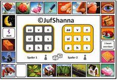 Letterbingo - Veilig Leren Lezen (nieuwe link!) Play To Learn, Learn To Read, Brain Gym, School 2017, Back 2 School, Teacher Inspiration, First Grade, Bingo, Spelling