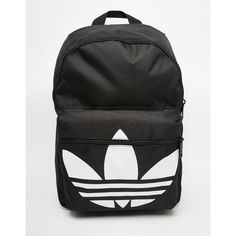 fab61696dc9 adidas Originals Classic Backpack in Black ( 31) ❤ liked on Polyvore  featuring bags,
