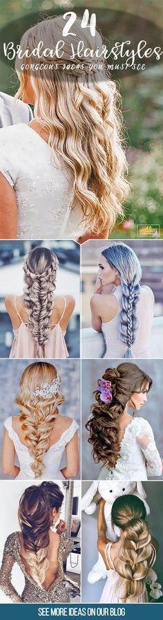 24 Gorgeous Bridal Hairstyles ❤ There are many beautiful bridal hairstyles to look gorgeous on a big day. See more: http://www.weddingforward.com/bridal-hairstyles/ #weddings #hairstyles