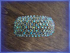capricho Graphic 45, Beading Tutorials, Paracord, Seed Beads, Spiral, Turquoise Bracelet, Beaded Jewelry, Cuff Bracelets, Swarovski