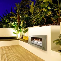 Have to have it. Escea Ferro Stainless Steel Outdoor Gas Fireplace Insert - $3995 @hayneedle.com