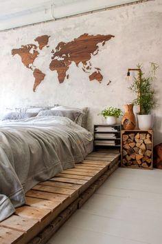 Dutch Home Tour: Jellina Detmar's Industrial Farmhouse Industrial Bedroom Furniture, Industrial Bedroom Design, Industrial Apartment, Industrial Interiors, Industrial Farmhouse, Industrial House, Farmhouse Design, Design Bedroom, Industrial Windows