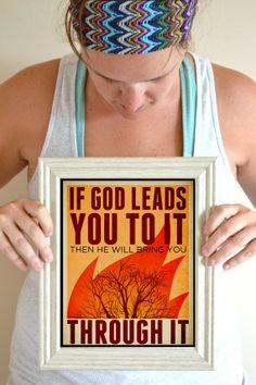 Bible Quote Art Print If God Brings YouTo It by SmartyPantsStudio, $20.00