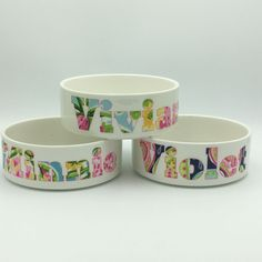 Lilly Pet Bowl | Personalized Pet | Cat Bowl | Dog Bowl | Pet Accessory | Pet Food Bowl by TheInspiredPet on Etsy