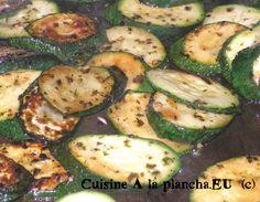 Les courgettes, grillées à la plancha - Recettes et Cuisine à la Plancha