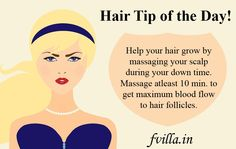 Hair Tip of the Day!! Book your Next Salon/Spa Appointment @ http://fvilla.in/