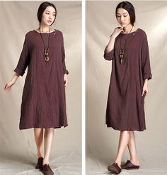 Vintage dress women cotton dress loose dress by EasternSilkRoad 55,97€