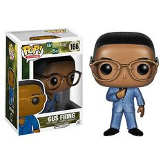 "Gustavo ""Gus"" Fring is the Los Pollos Hermanos fried chicken restaurant owner and a drug lord. He now comes as a chibi style Funko Pop! Vinyl Figure based on actor Giancarlo Esposito that stands 3 3/4-inches tall. He's wearing his classic blue suit and glasses. It's recommended for ages 17 and up and comes in a collectible window display box. #nesteduniverse"