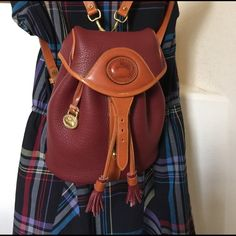 Dooney& Bourke French Maroon Back pack Vintage but like new Dooney. Pristine condition. Perfect inside and out. Wonderful color. Dooney & Bourke Bags Backpacks