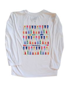 Youth SPF T-Shirt in Multi-Colored Paddles