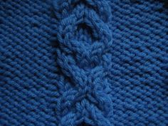 knitting pattern - linked rings cable stitch