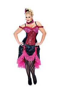 Sexy Madame Can Can Dancer Plus Size Costume