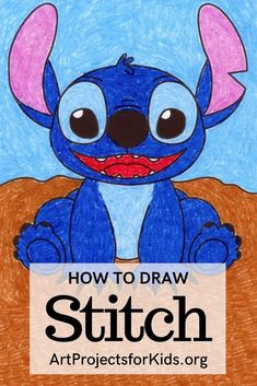 Art Drawings For Kids, Kids Artwork, Drawing Projects, Art Projects, Stitch Coloring Pages, Stitch Drawing, Paper Plate Crafts For Kids, Projects For Kids, Project Ideas