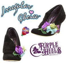 Irregular Choice Lemon Pips Black Floral Bouquet Heels UK4 EU37 #IrregularChoice #CourtShoes