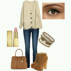 In love with this outfit its perfect for all kinds of activities and the wedges/makeup are amazing