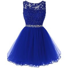 Clearbridal Women's Sequins Backless 2018 Homecoming Dresses Short... ($90) ❤ liked on Polyvore featuring dresses, gowns, sequin gown, blue gown, prom dresses, short sequin dress and blue prom dresses