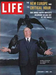Alfred Hitchcock on the cover of Life, February 1963