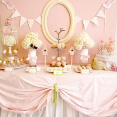 girly baby shower. yup, if i'm having another baby and it's a girl, this will be my inspiration. simply gorgeous