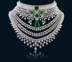 Shine and sparkle in designer diamond necklaces from Hazoorilal Jewellers in GK, Delhi. Visit today for the exquisite collection of diamond necklace designs! Emerald Jewelry, Diamond Jewelry, Lotus Jewelry, Hazoorilal Jewellers, Diamond Necklace Set, Dimond Necklace, Stone Necklace, Luxury Jewelry Brands, Best Diamond