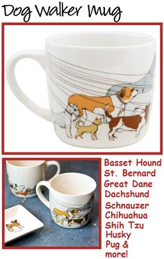 dog walker mug