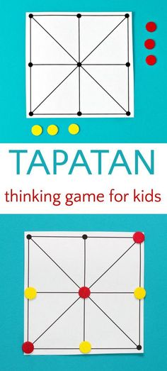 A Brain Boosting Twist on Tic-Tac-Toe 3 in a row abstract strategy game Tapatan. Great for math learning, in a row abstract strategy game Tapatan. Great for math learning, too! Family Game Night, Family Games, Group Games, Iq Puzzle, Classroom Games, Classroom Management, Thinking Day, Social Thinking, Strategy Games