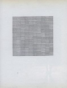 Carl Andre, Poems, (1950's-1970's)