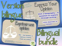 "$ Bundled. French Immersion program/francophone & English version of Geography in-class writing assignment. Includes rubrics for Language & Geography expectations, or French & Geo expectations as appropriate. This is ideal if you are teaching Geography in both English and to extended French/intensive French/FI students. Includes recommended list of teaching topics to cover before assigning this  work. Could be used as culminating assignment or as ""assessment as learning""/mid-unit type test."