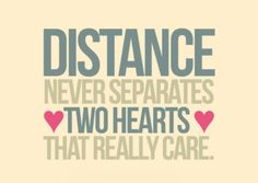 Distance never separates two hearts that really care #love #relationships #quotes #meetville
