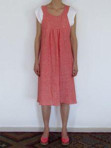 Image of Watermelon apron wrap dress
