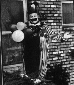 "John Wayne Gacy, affectionately known as the ""Killer Clown"" convicted of killing 33 people, and buried most of them under his house."