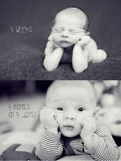I love this comparison between newbie and 3 month old.