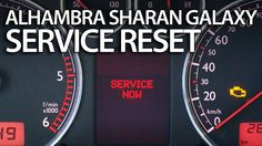 How to #reset #service reminder in #Sharan #Galaxy #Alhambra (inspection VW Ford Seat) #cars